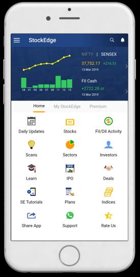 StockEdge App Home Screen